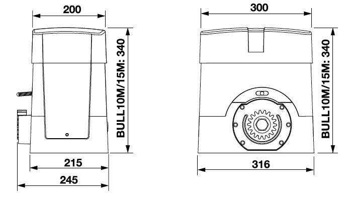 Dimensions BULL10M