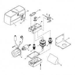 Platine fixation - Pièce détachée motorisation BENINCA PR45E