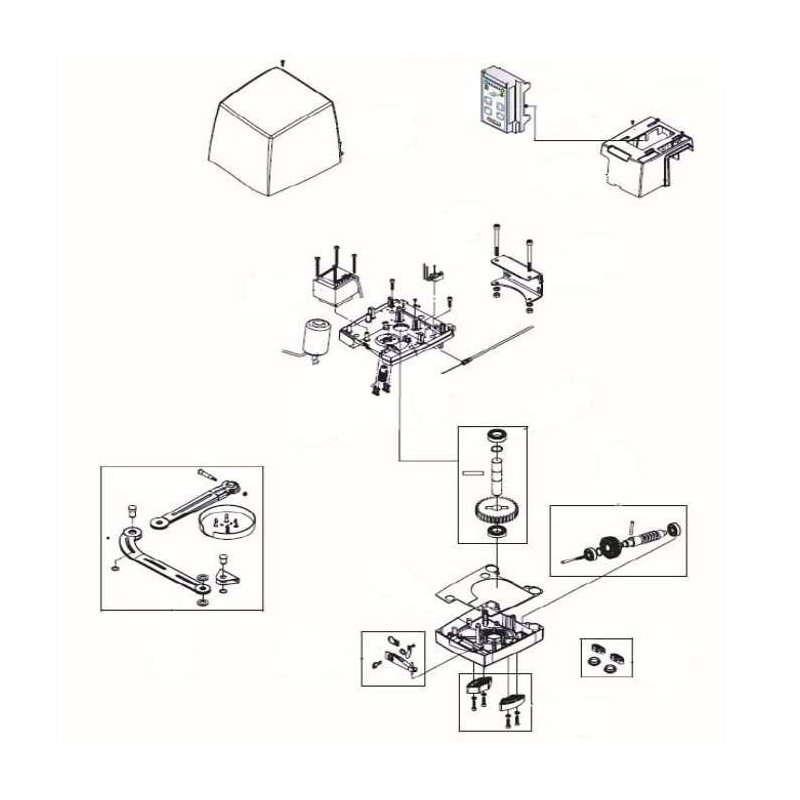Pièce détachée motorisation LIFE ARMOR - 5RI1370000